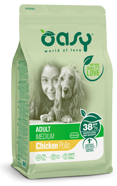 alimento secco per cani oasy | adult medium pollo