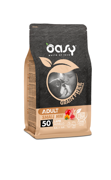 Oasy grain free formula adult small/mini agnello